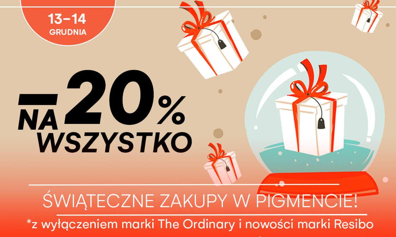 -drogeria pigment 20% na wszystko oprócz the Ordinary i nowości Resibo