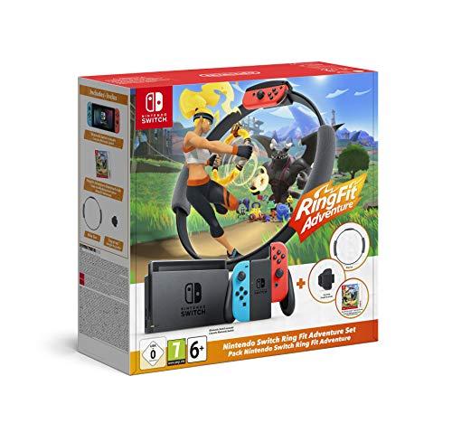 Konsola Nintendo Switch razem z grą Ring Fit Adventure
