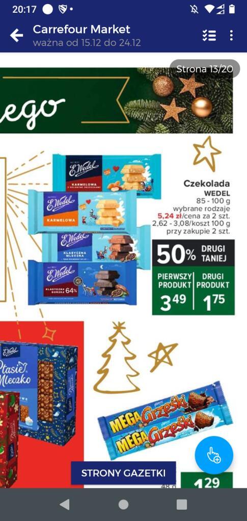 Czekolada wedel - 2 produkt 50% taniej Carrefour Market