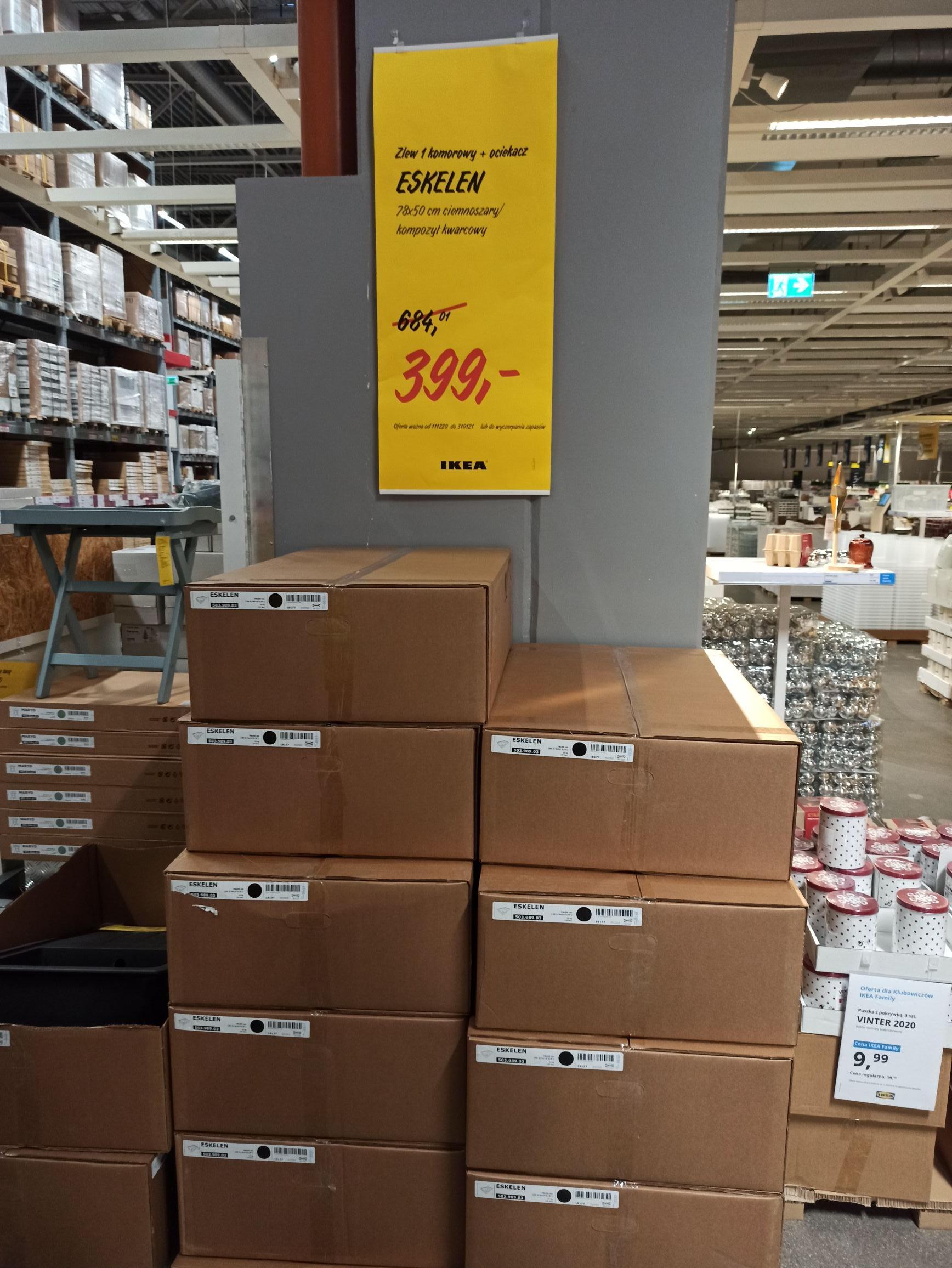 Zlew ciemnoszary z ociekaczem @IKEA Gdańsk