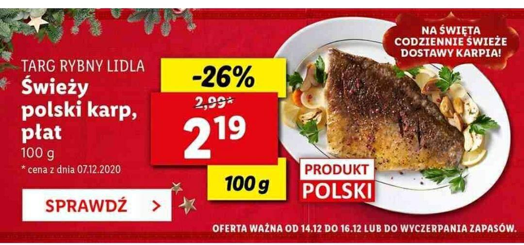 Świeży polski karp Lidl