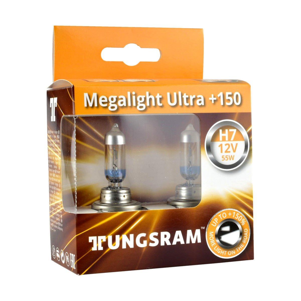 Żarówki H7 Tungsram Megalight Ultra +150%