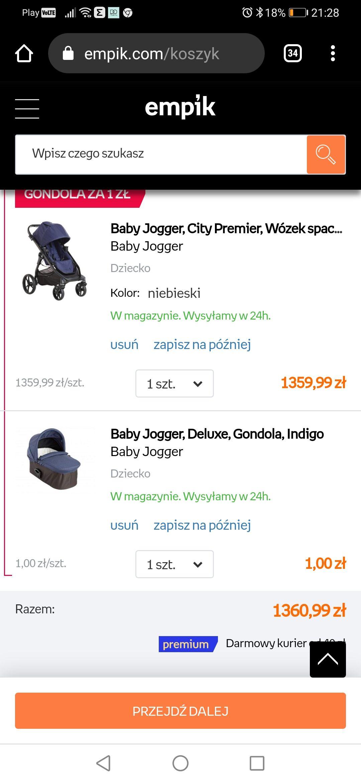Baby jogger city premier 2w1 (gondola za 1zł)