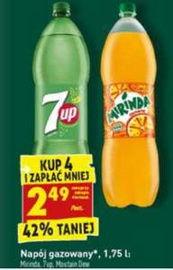Mirinda/7Up/Mountain Dew 4pak 1.75L - Biedronka