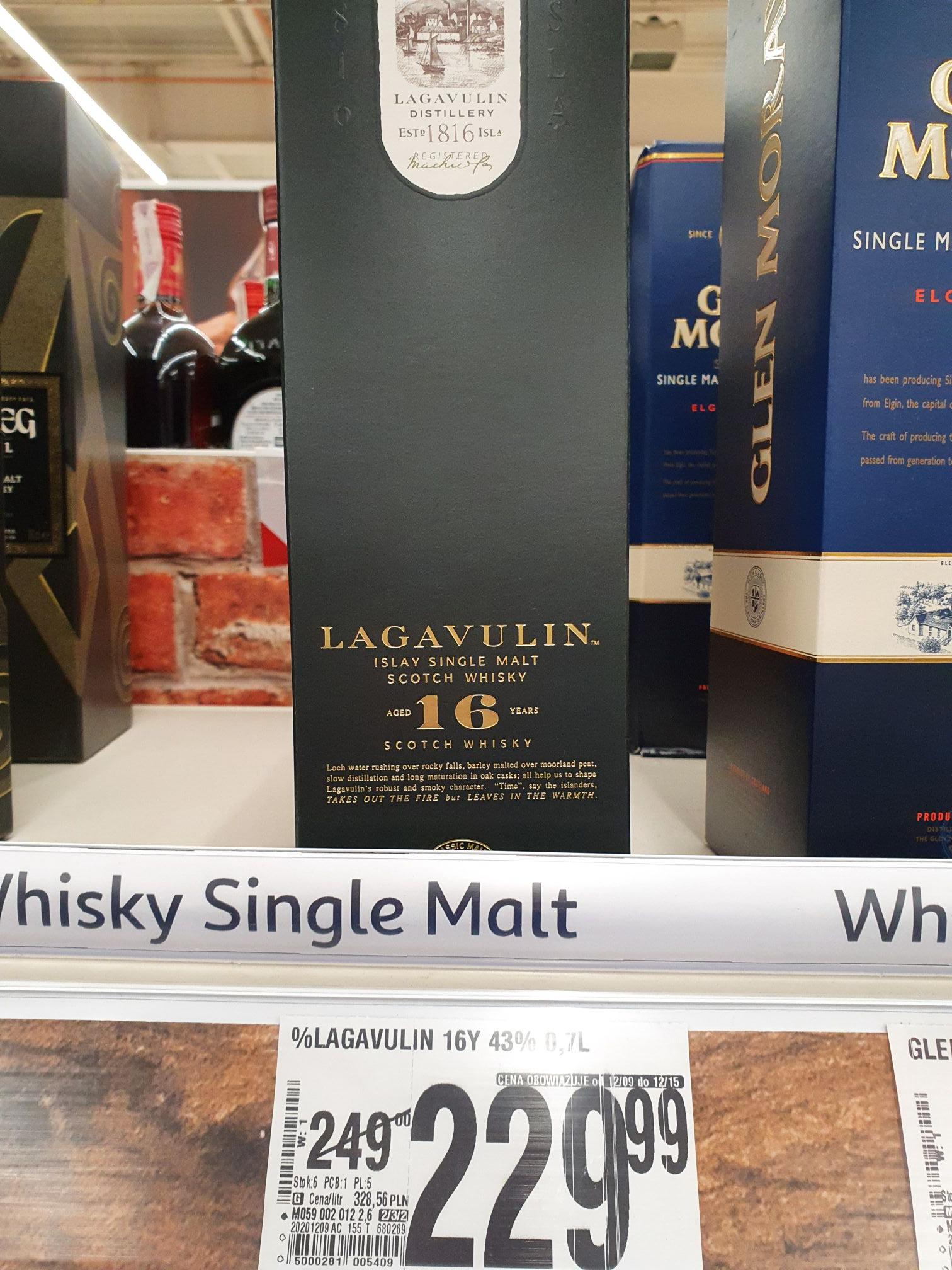 Lagavulin 16, 0,7 w świetnej cenie w Auchan Warszawa Ursynów