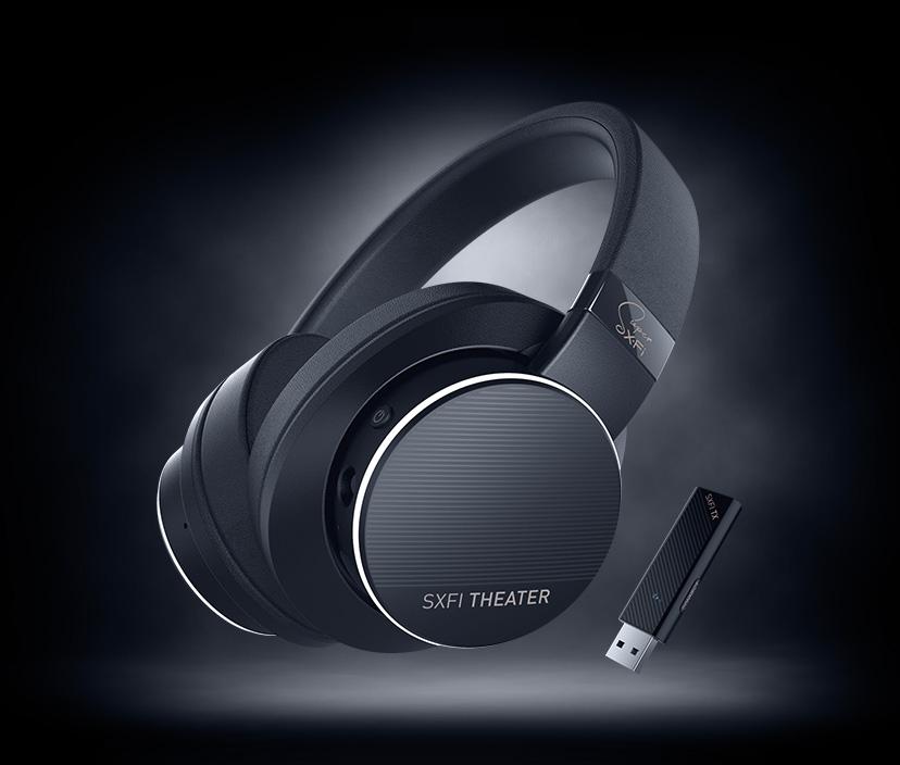 Creative SXFI THEATER Bezprzewodowe słuchawki USB