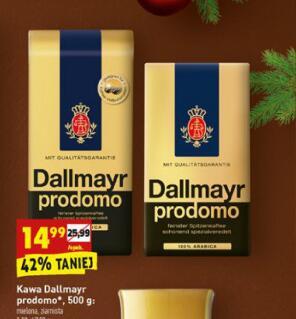 Dallmayr prodomo kawa ziarnista lub mielona 500 g