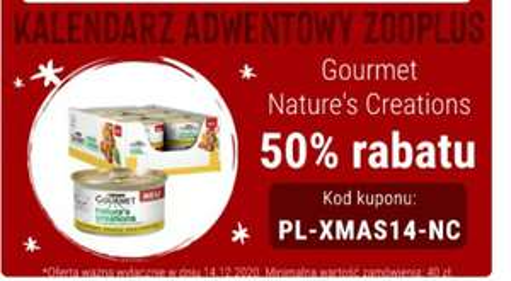 Zoo plus Gourmet Nature`s Creations -50%