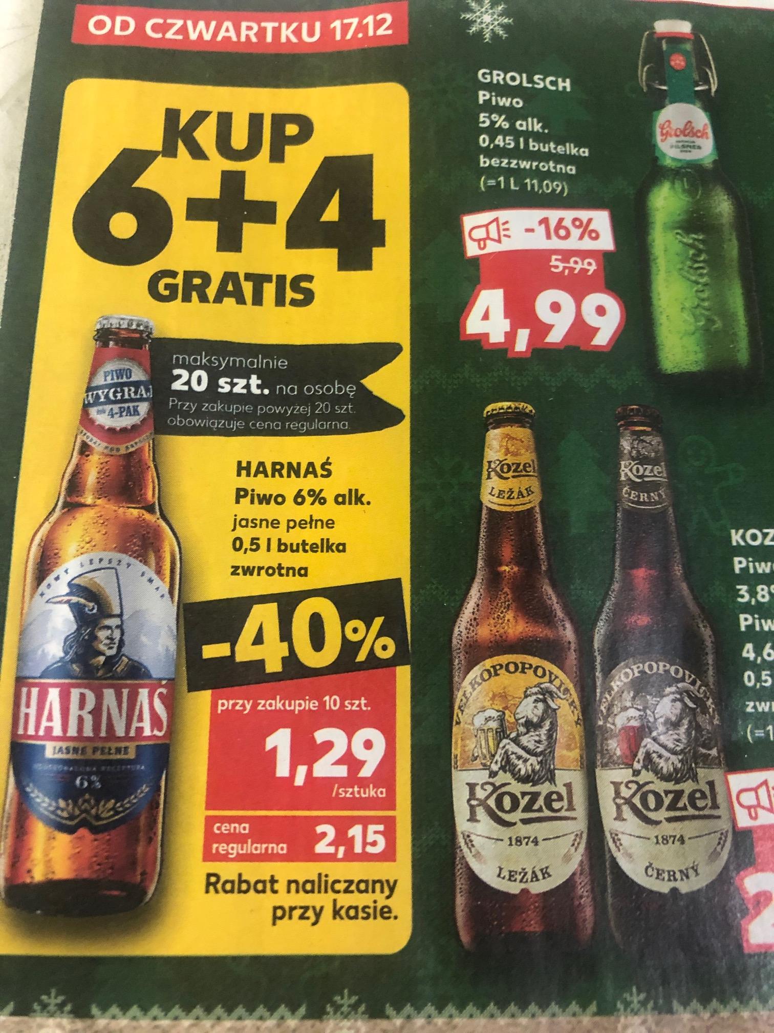 Piwo Harnaś 6+4