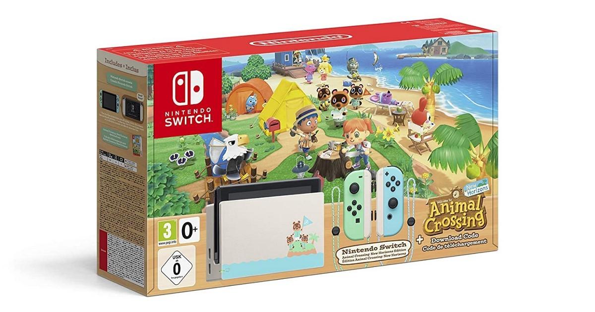 Nintendo Switch v2 edycja Animal Crossing taniej na niemieckim Amazonie
