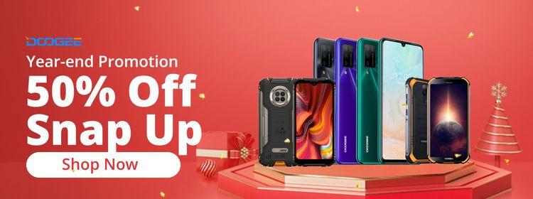 Wyprzedaż smartfonów DOOGEE - 50% Off Snap Up