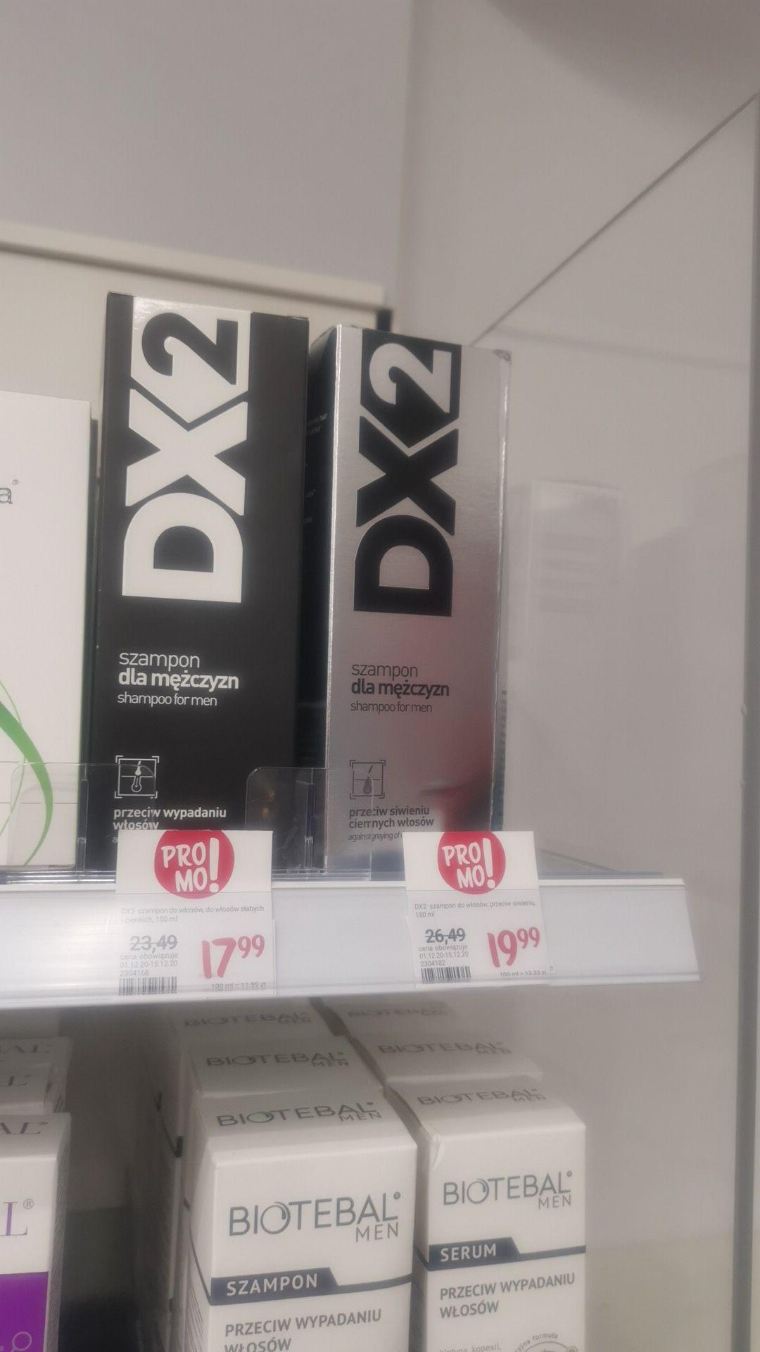 Szampon Dx2 przeciwłupieżowy 17,99 lub przeciw siwieniu włosów za 19,99 @ Rossman