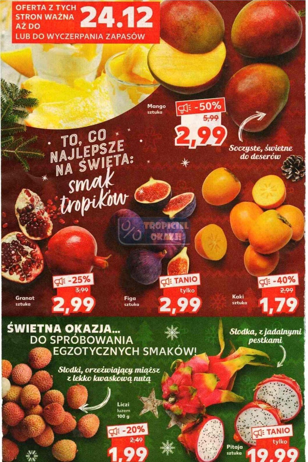 Owoce egzotyczne taniej w Kauflandzie
