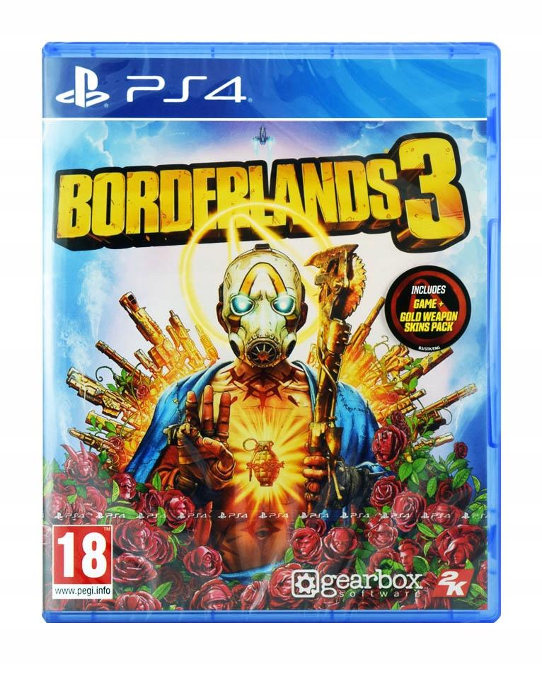 PS4 BORDERLANDS 3 + DLC GOLD WEAPON SKINS PACK