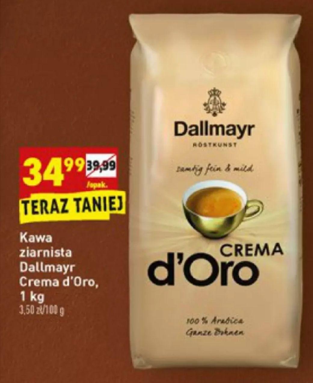 Kawa ziarnista Dallmayr d'oro crema 1kg Biedronka