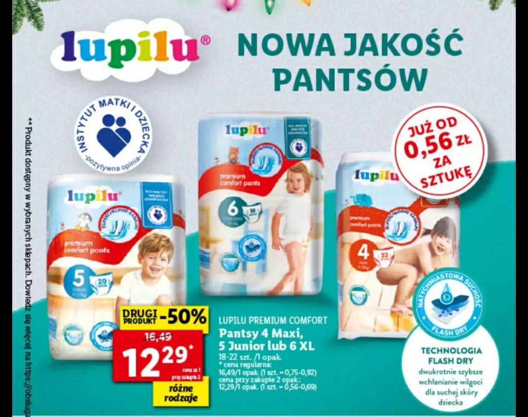Pieluchomajtki Lupilu Pandsy 4 maxi 5 junior lub 6 xl Lidl
