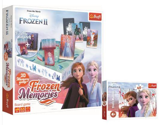 Trefl FROZEN 2 Memory 3D + puzzle 60 elementów gratis