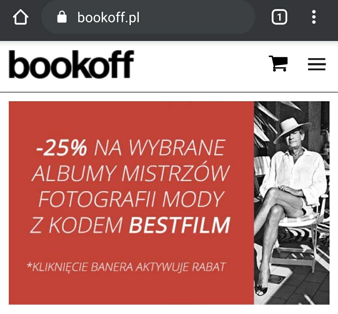 -25% na wybrane albumy fotograficzne na Bookoff.pl