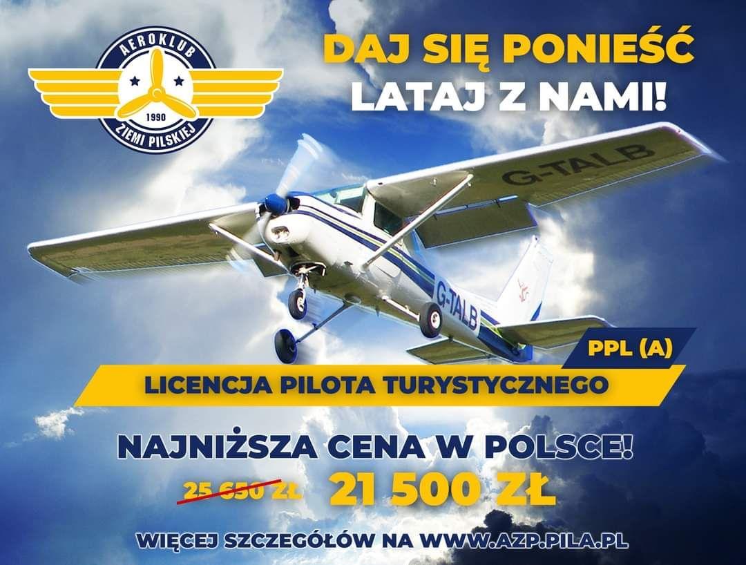 Szkolenie samolotowe na pilota turystycznego najtaniej w Polsce