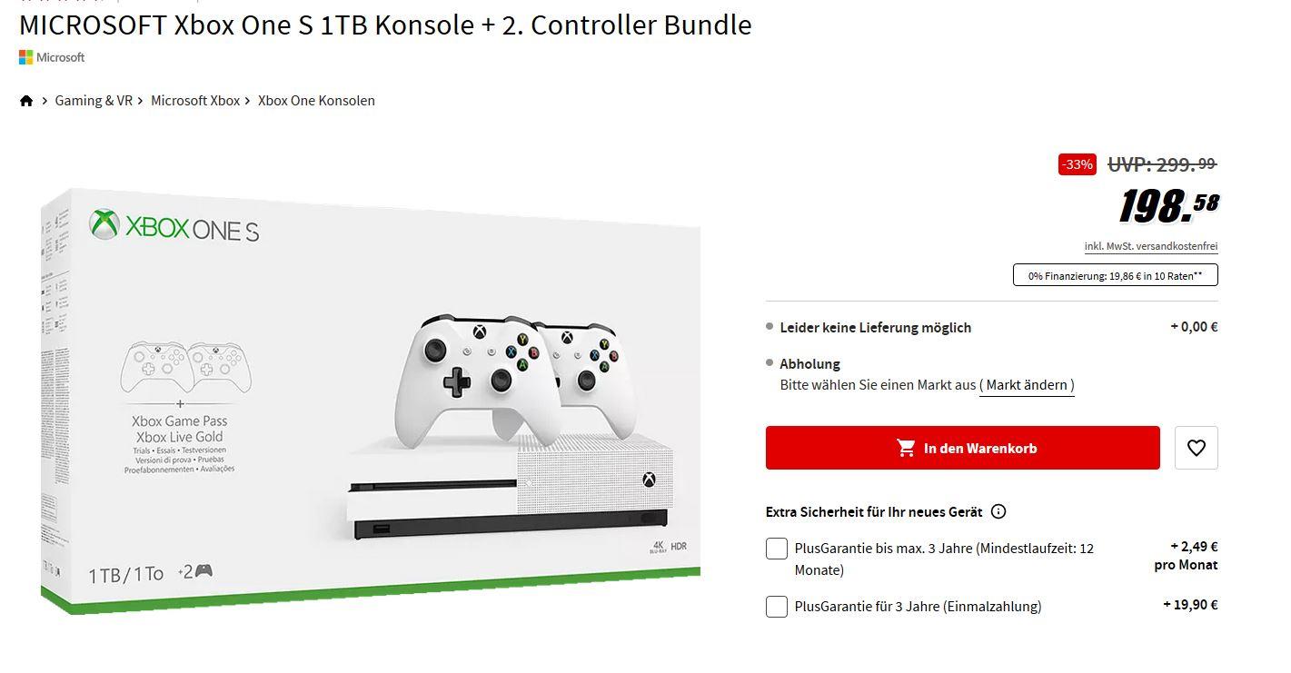 MICROSOFT Xbox One S 1TB Konsola + 2. Kontrolery