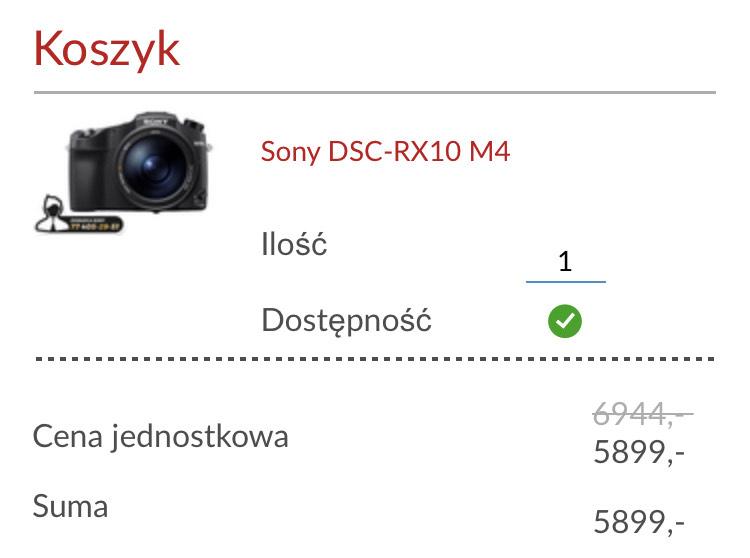 Aparat hybrydowy Sony RX10 IV