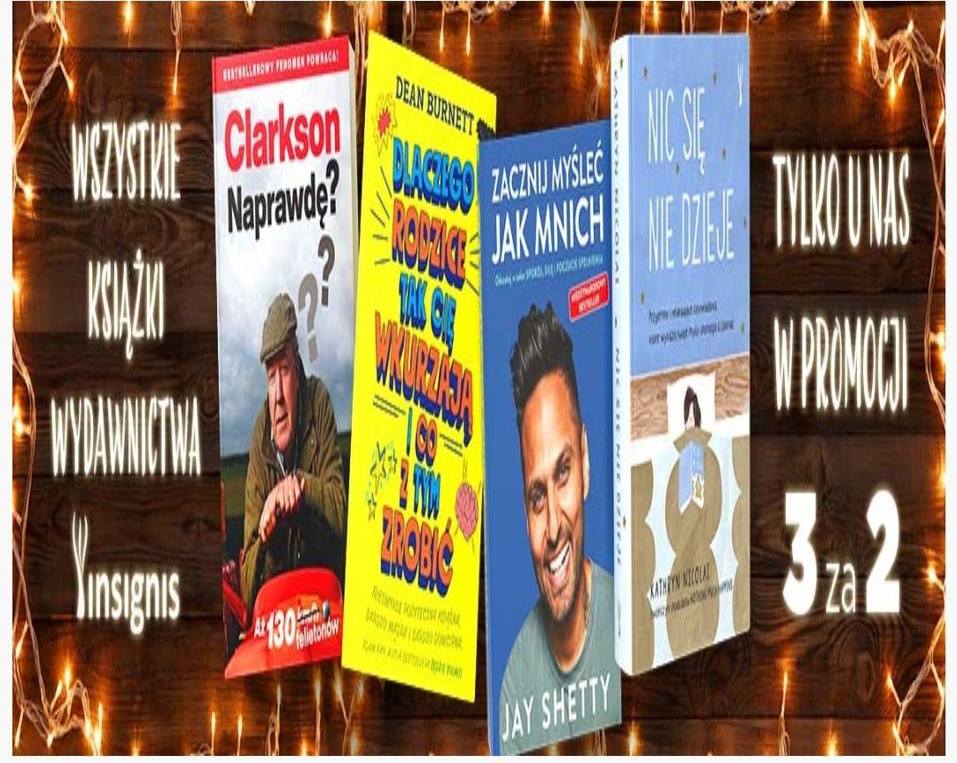 Książki wydawnictwa Insignis 3 w cenie 2 w świecie książki
