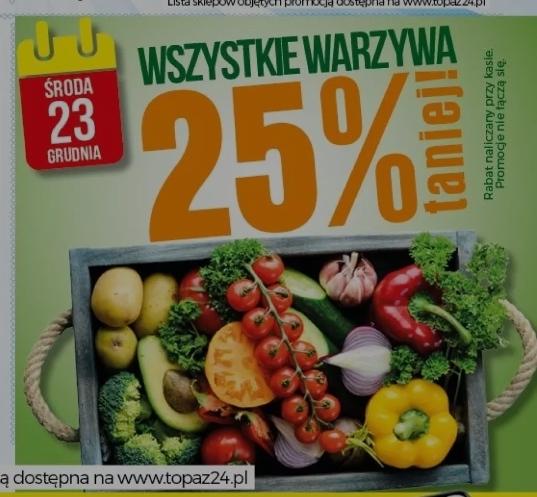Wszystkie warzywa -25%Topaz