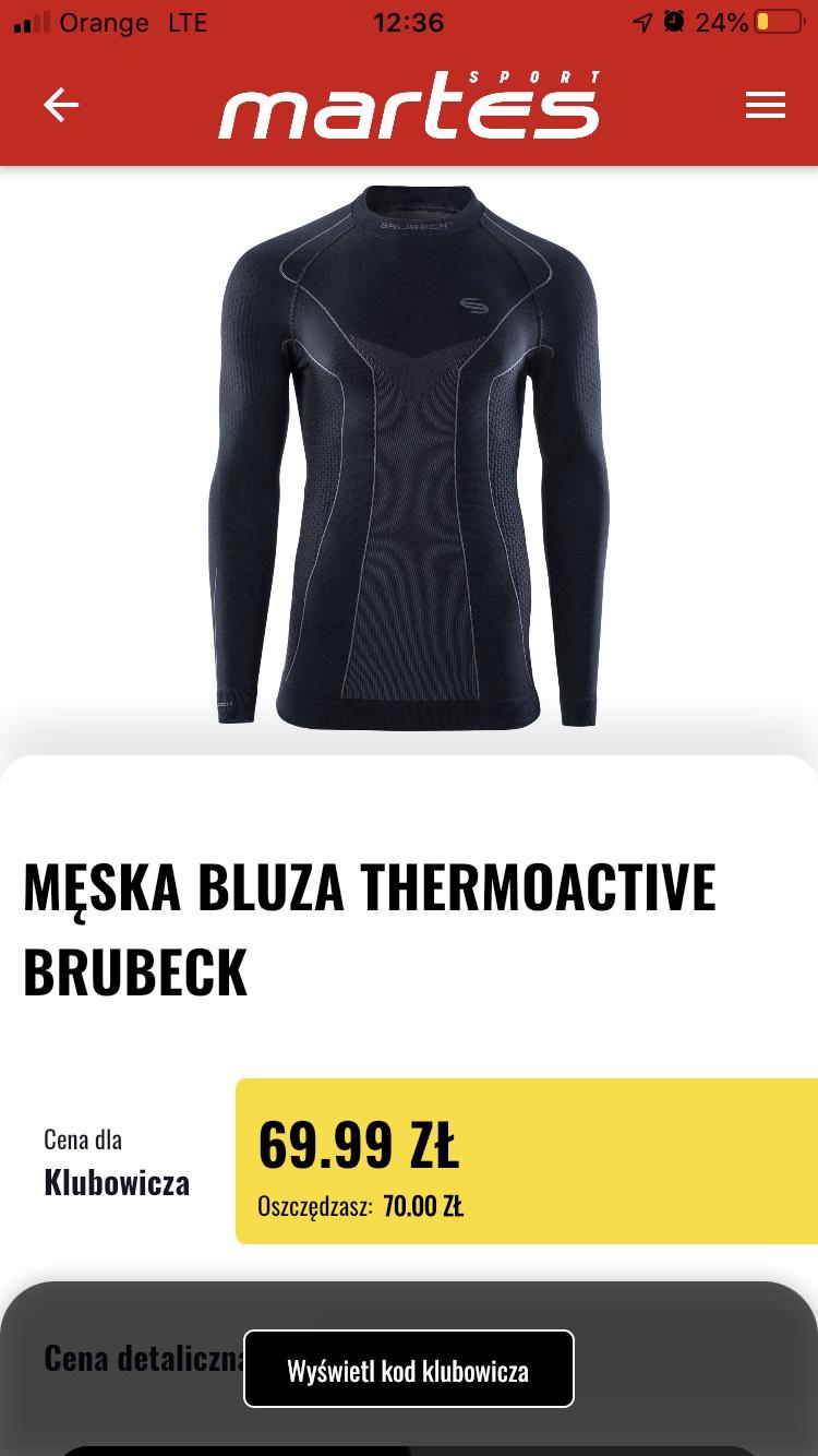 Bielizna termiczna BRUBECK Thermoactive