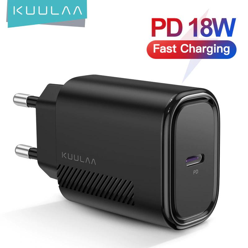 Ładowarka KUULAA PD USB-C 18W QC 4.0 $3.63 @Aliexpress