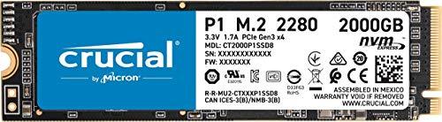 Crucial P1 2TB CT2000P1SSD8 Internal SSD (3D NAND, NVMe, PCIe, M.2)
