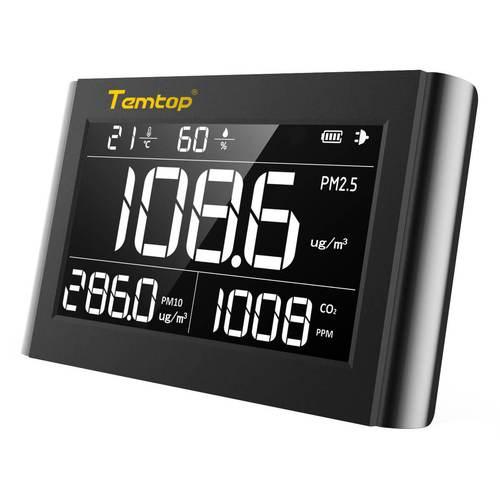 Temtop P1000 Laserowy mernik dwutelnku węgla CO2 PM2.5 PM10