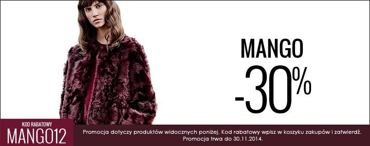 (Black Friday) 30% rabatu na ponad 1200 produktów marki MANGO @ Answear