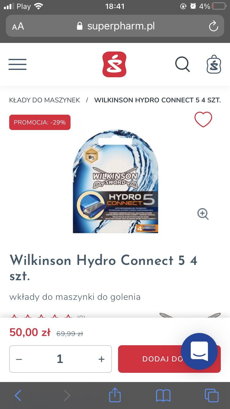 Wilkinson Hydro 5 connect (konkurent dla gillette proglide)