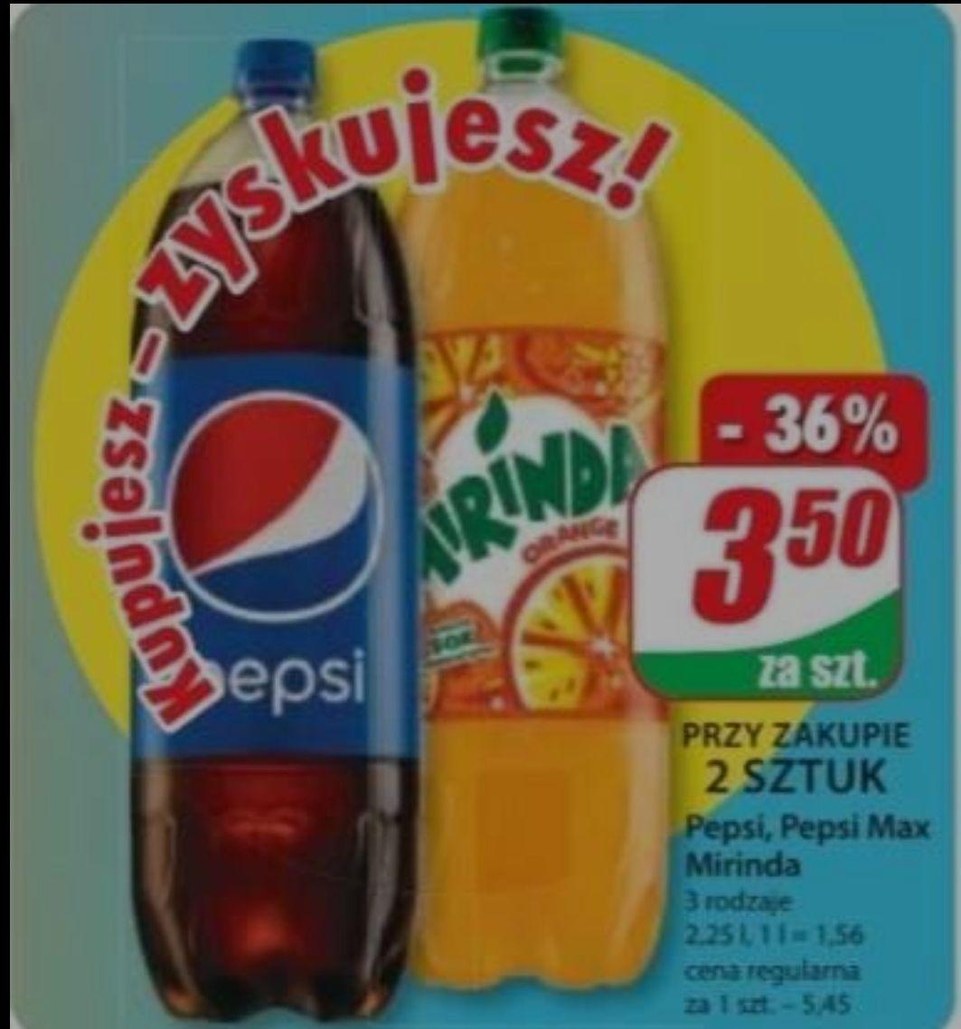 Pepsi, Pepsi Max, Miranda 2,25 l. za 3,50 zł przy zakupie 2 sztuk