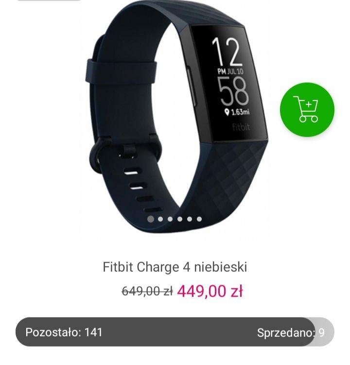 Fitbit Charge 4 niebieski