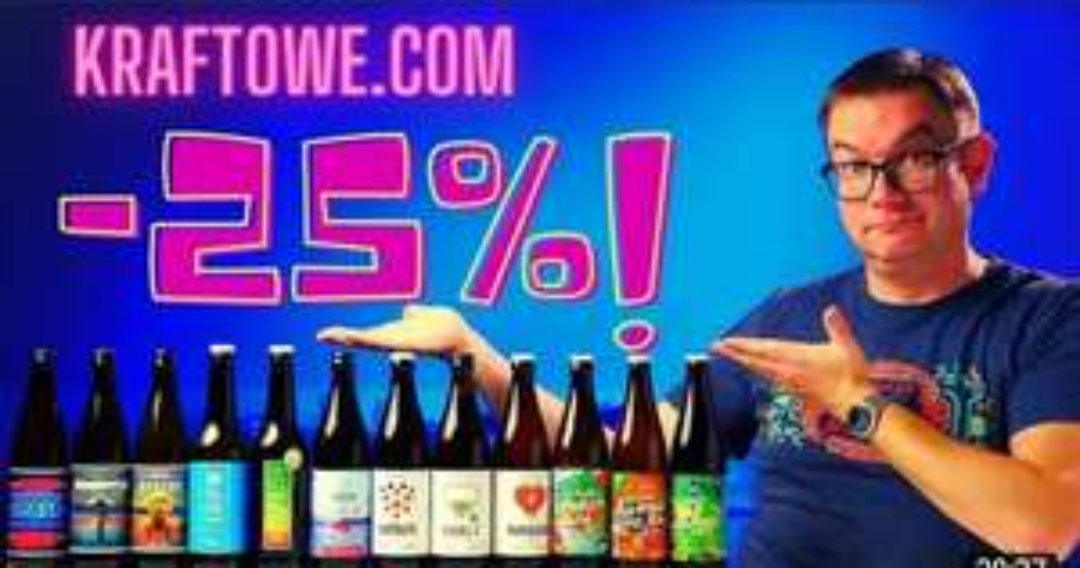 Rabat 25% na piwo online - kraftowe.com