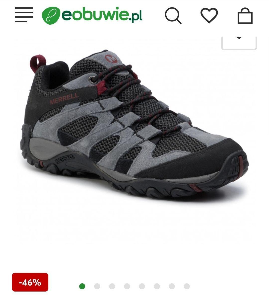 Buty trekkingowe męskie MERREL Alverstone - pełna rozmiarówka