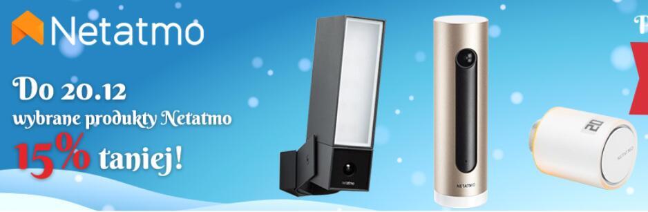 Wybrane produkty Netatmo z 15% rabatem (elementy Smart-Home - głowice termostatyczne, stacje pogodowe i inne) @ Komputronik