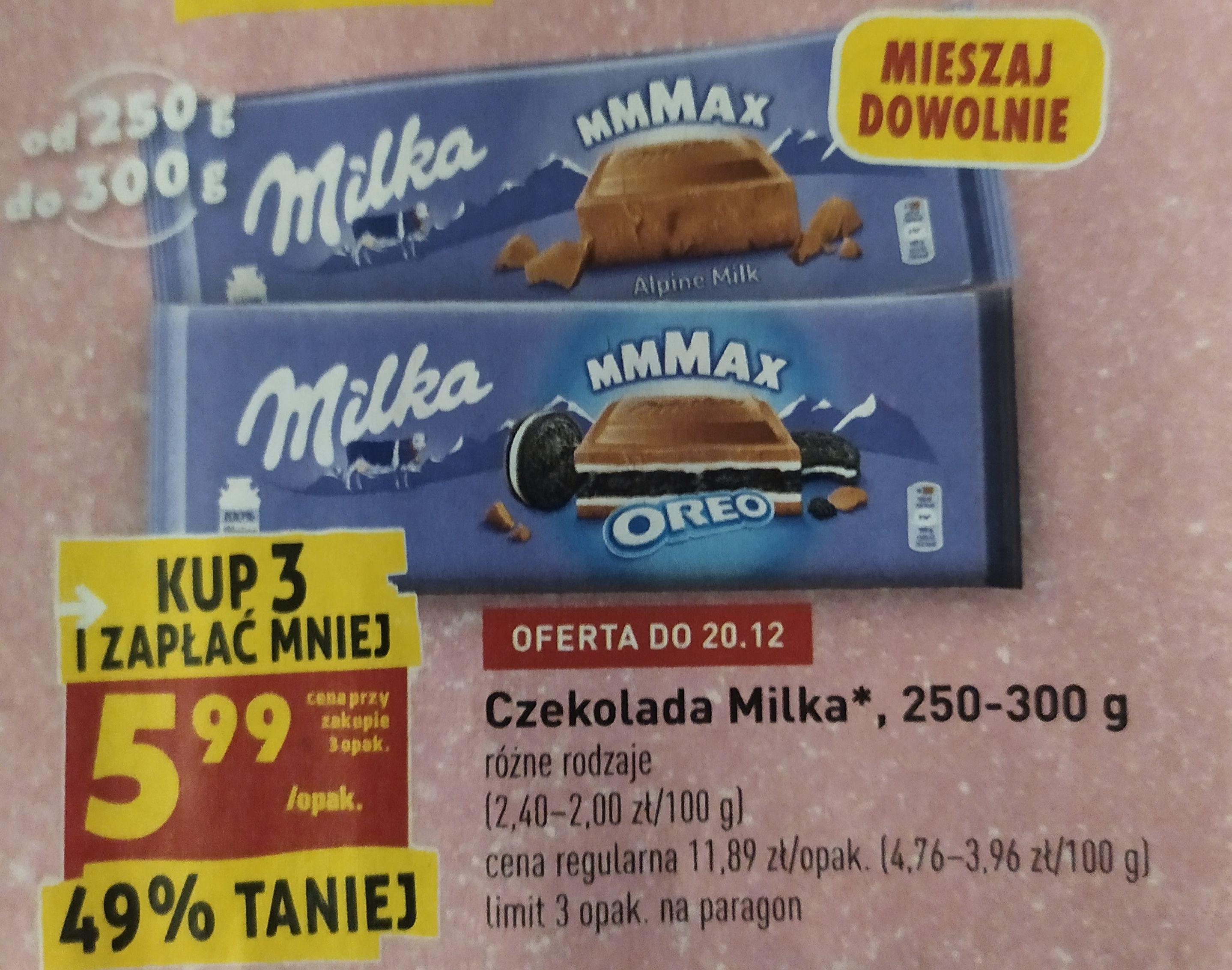 Czekolada Milka 250-300g - Biedronka