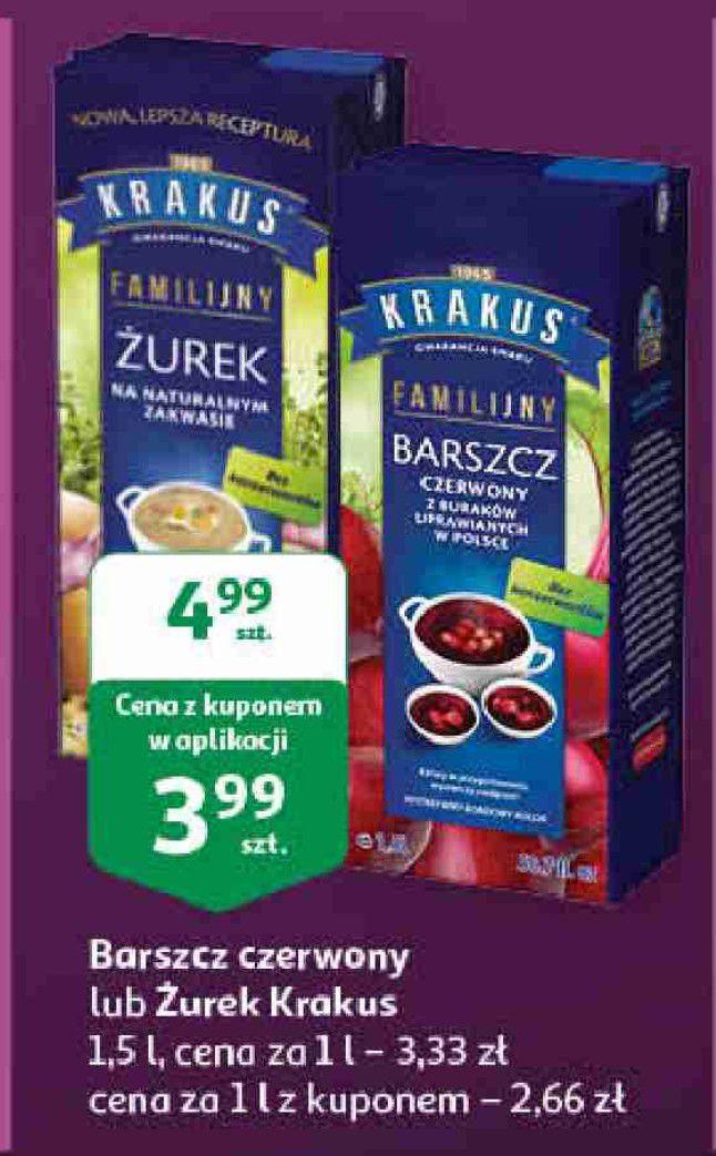 Barszcz Czerwony & Żurek Krakus 1.5L za 3.99zł (Auchan)
