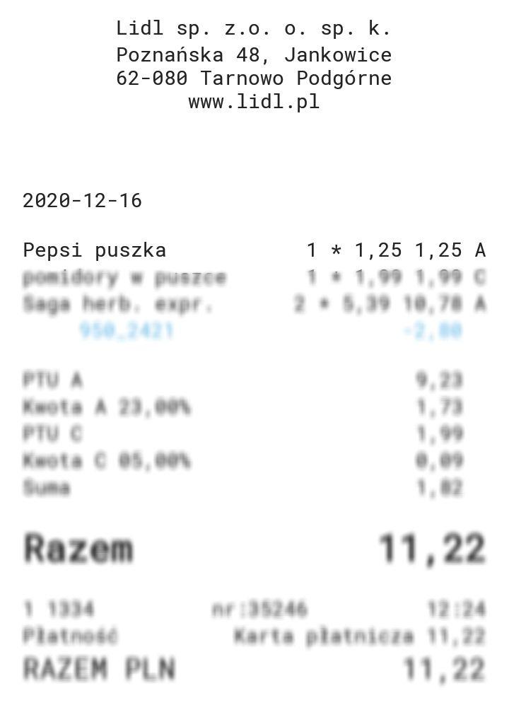 Pepsi 0,33 l puszka w Lidlu