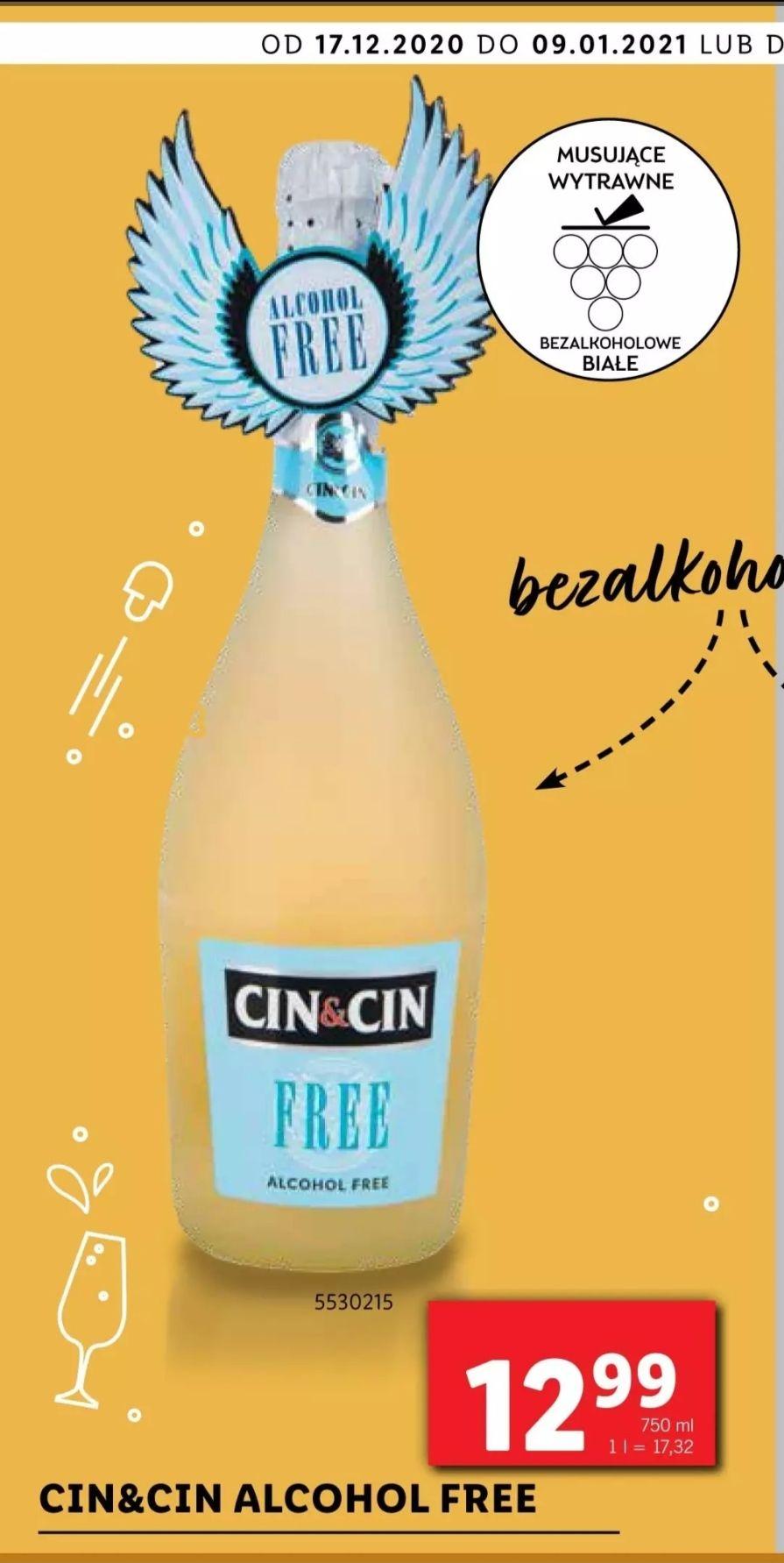 Szampan (wino musujące) Cin&Cin bezalkoholowe 750ml Lidl