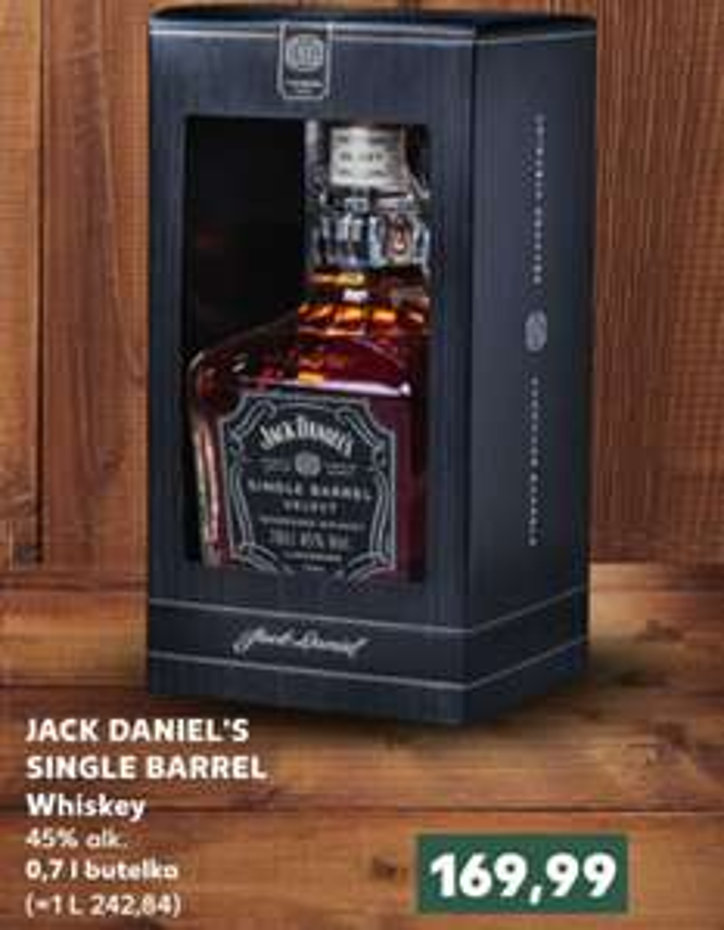 Kaufland Jack Daniel's Single BarrelI 0,7