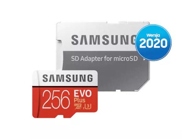 Karta pamięci microSDXC Samsung Evo Plus 256GB (wersja 2020)