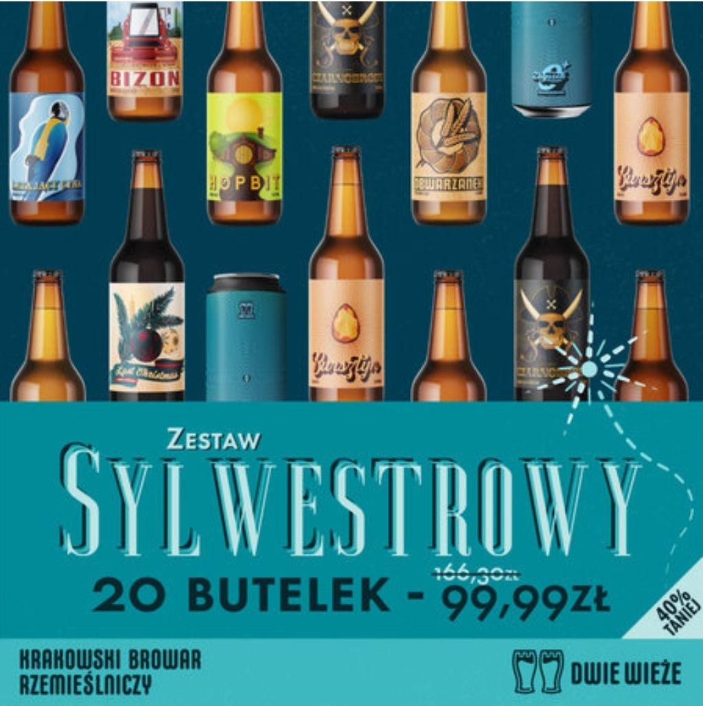 Browar dwie wieże zestaw sylwestrowy 20 piw mix