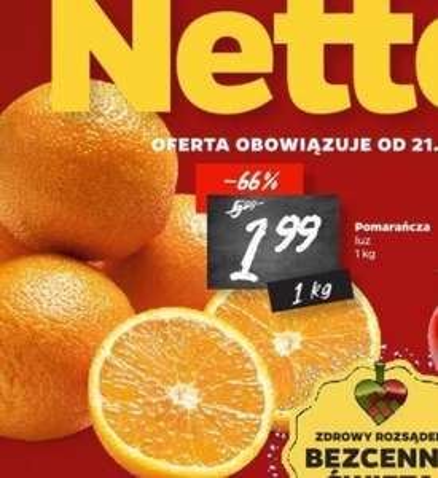 Pomarańcze 1,99 zł/kg i mandarynki 2,99 zł/kg w Netto