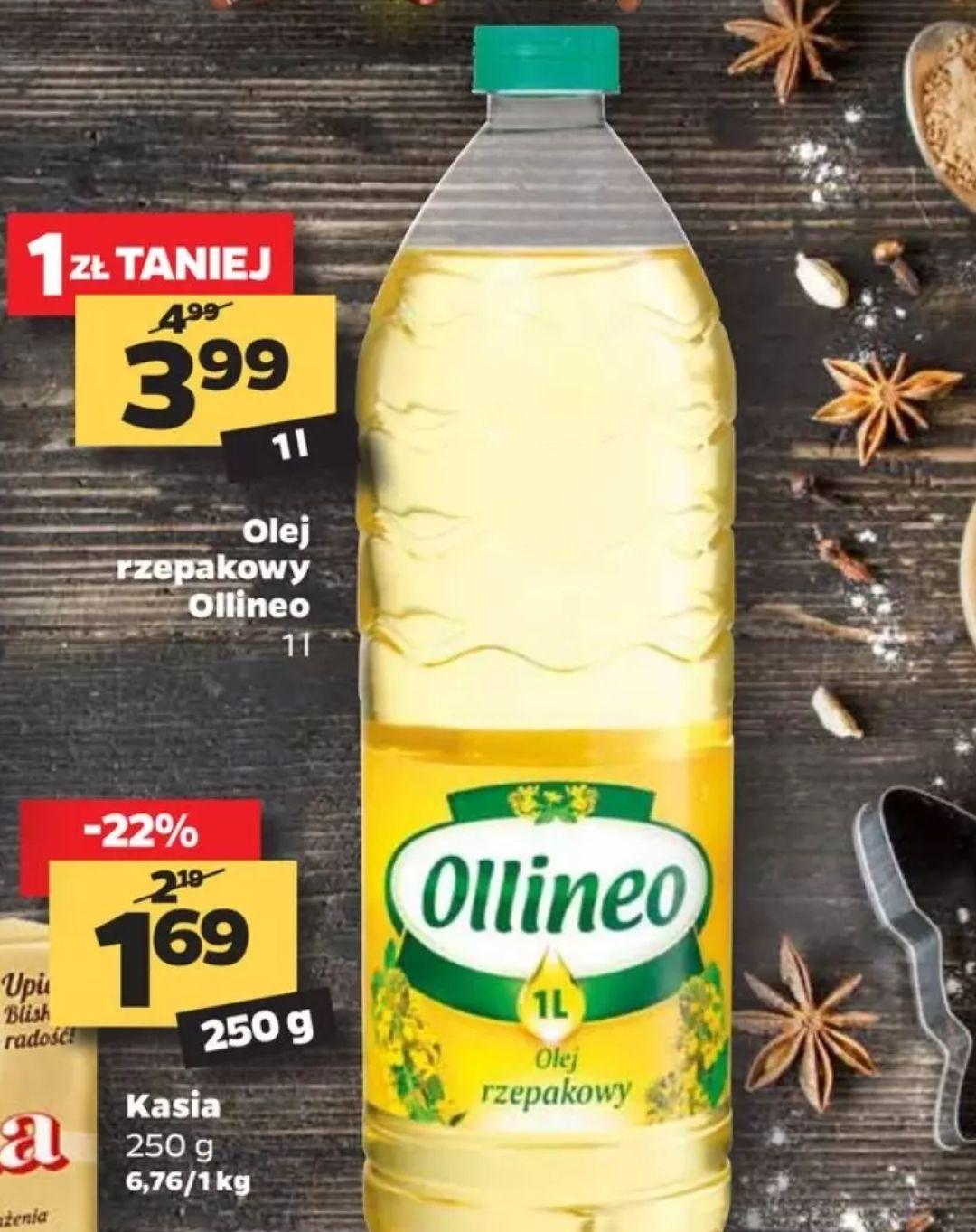 Olej rzepakowy Ollineo 1l w Netto
