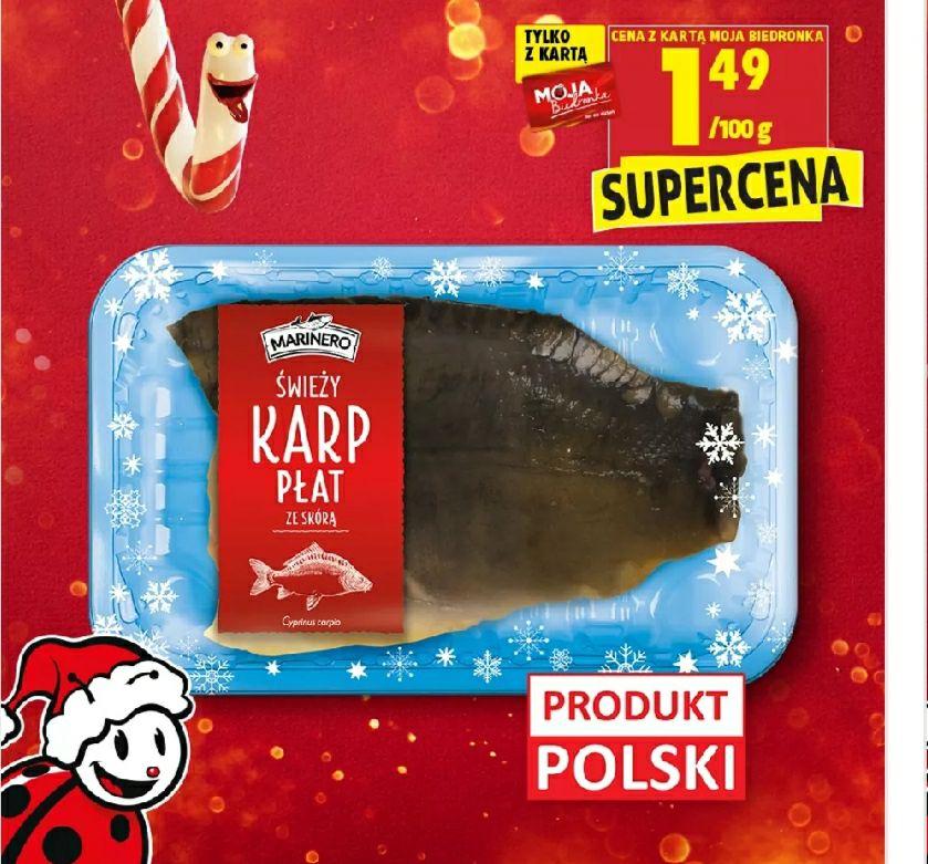 Karp płat ze skorą w Biedronce - idealny na Święta.