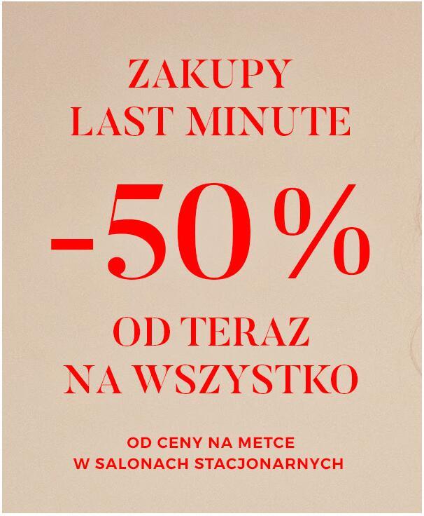-50% NA WSZYSTKO W SKLEPACH TATUUM