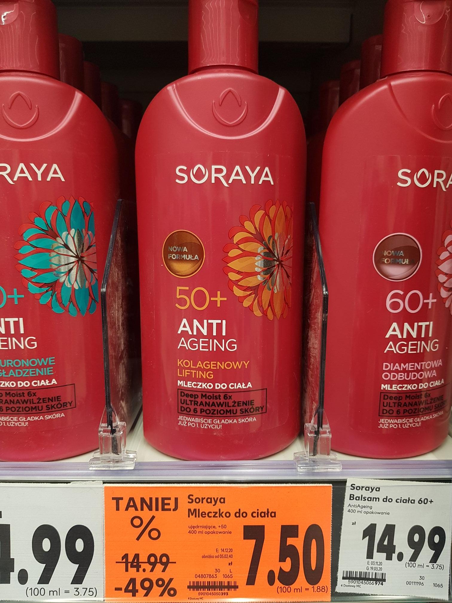 Zniżka na mleczko do ciała SORAYA 50+ AntiAgeing 400Ml